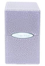 Satin Tower Deck Box: Ivory Crackle