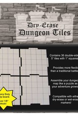 """Role 4 Initiative Dry Erase Dungeon Tiles - Pack of Thirty Six 5"""" Interlocking Tiles"""