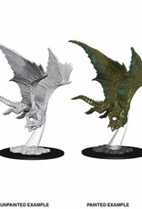 Wizkids D&D Nolzur's Unpainted Miniatures: Young Bronze Dragon