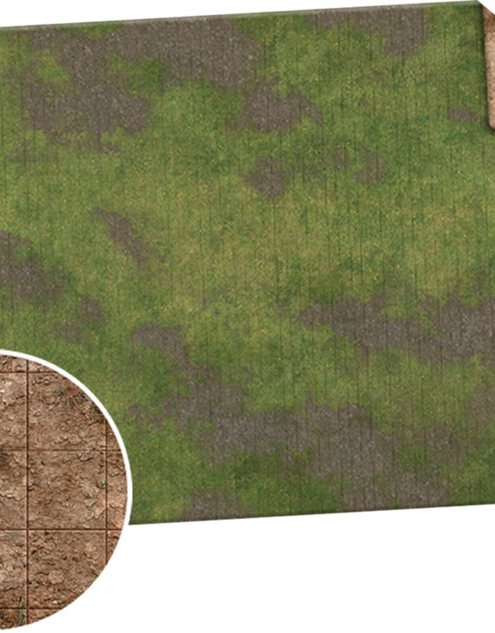 Monster Fight Club Monster Game Mat: 6x4 - Broken Grassland / Desert Scrubland