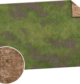 Monster Fight Club Monster Game Mat: 6x4 - Broken Grassland / Desert Scrubland