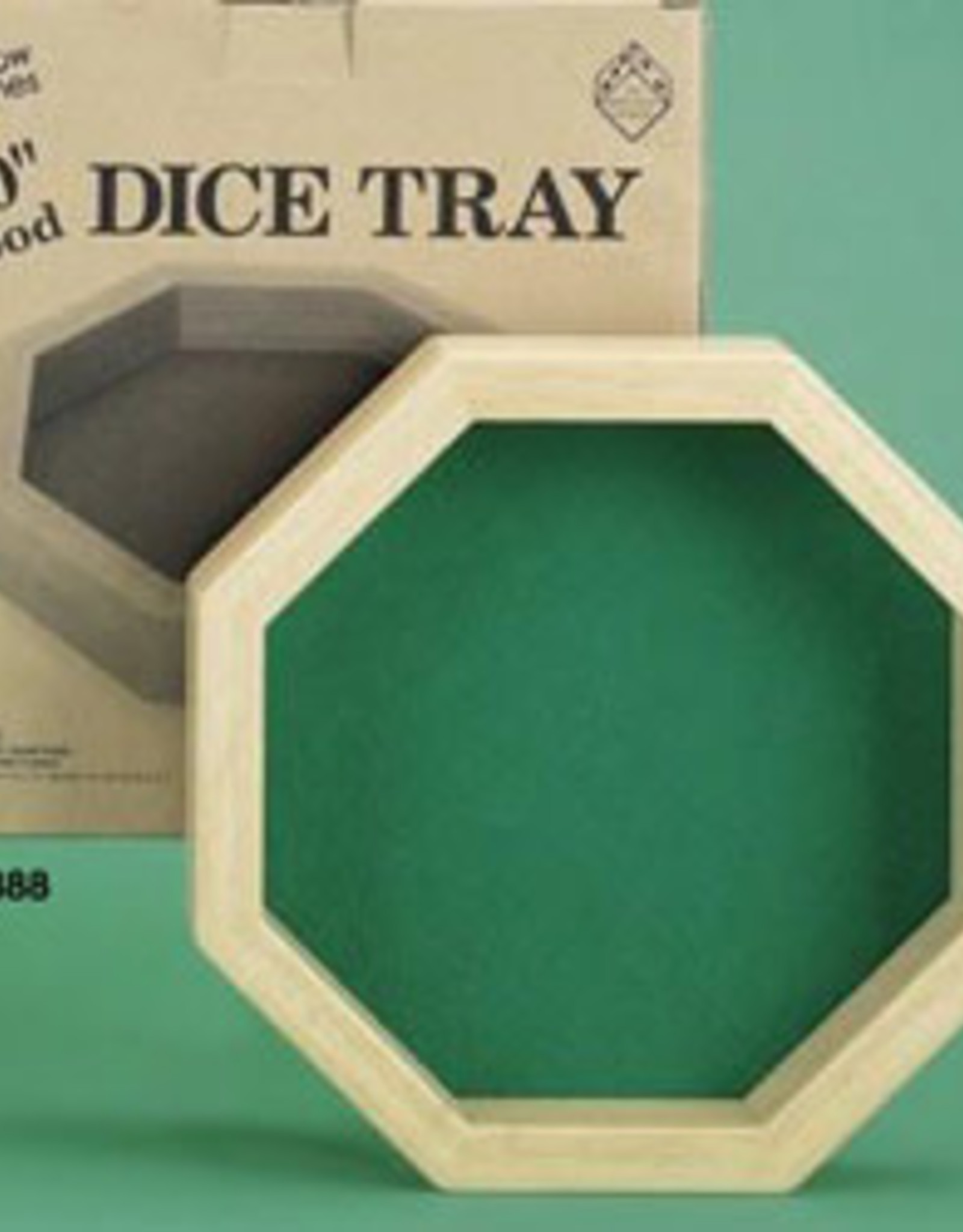 Koplow Dice Tray: Octagon 10 Inch Wood Dice Tray