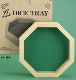 Koplow Dice Tray: Octagon 10 Inch Wood Dice Tray