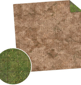 Monster Fight Club Monster Game Mat: 3x3 - Broken Grassland / Desert Scrubland