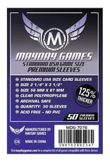 Mayday Games Sleeves: Mayday Premium USA Sleeves 56mm x 87mm Purple (50)