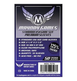 Mayday Games Sleeves: Mayday Premium USA Sleeves 56mm x 87mm Purple (50)