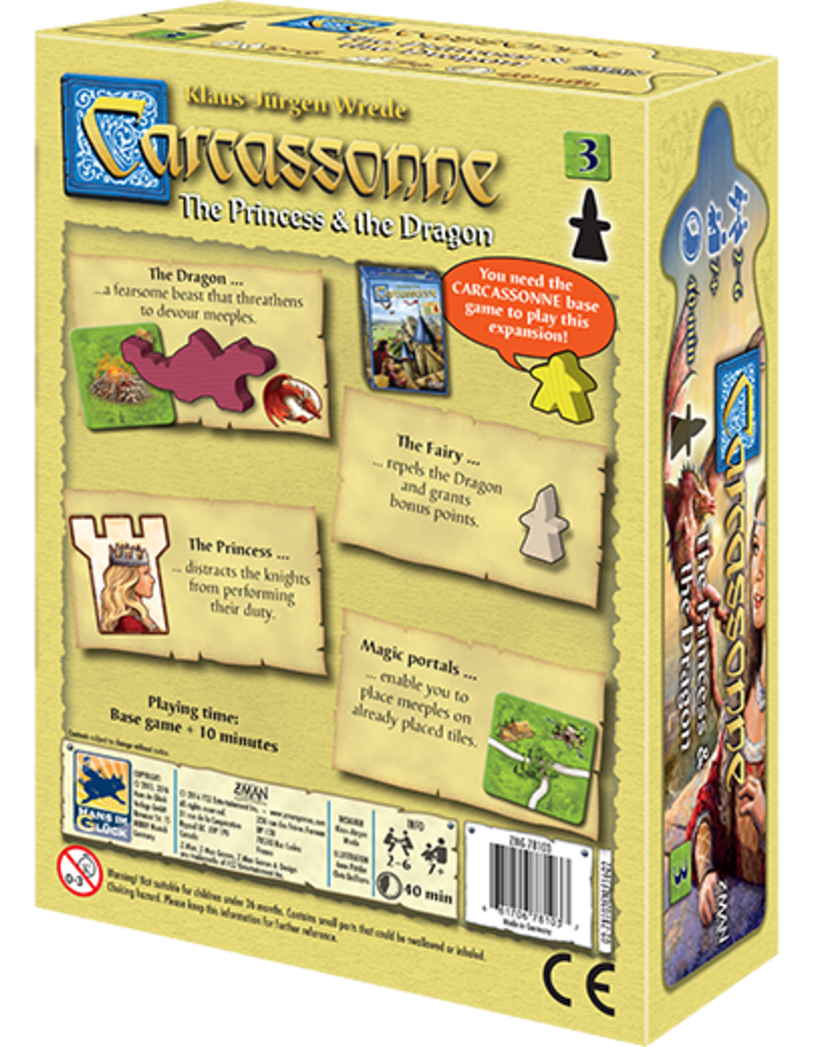 Carcassonne Expansion 3 The Princess & The Dragon