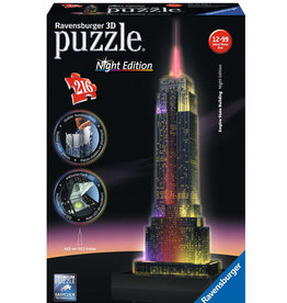 Ravensburger Empire State Building at Night Puzzle 216 PCS