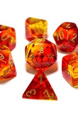 Chessex Lab Dice Gemini: Poly Red/Yellow/Gold (7)