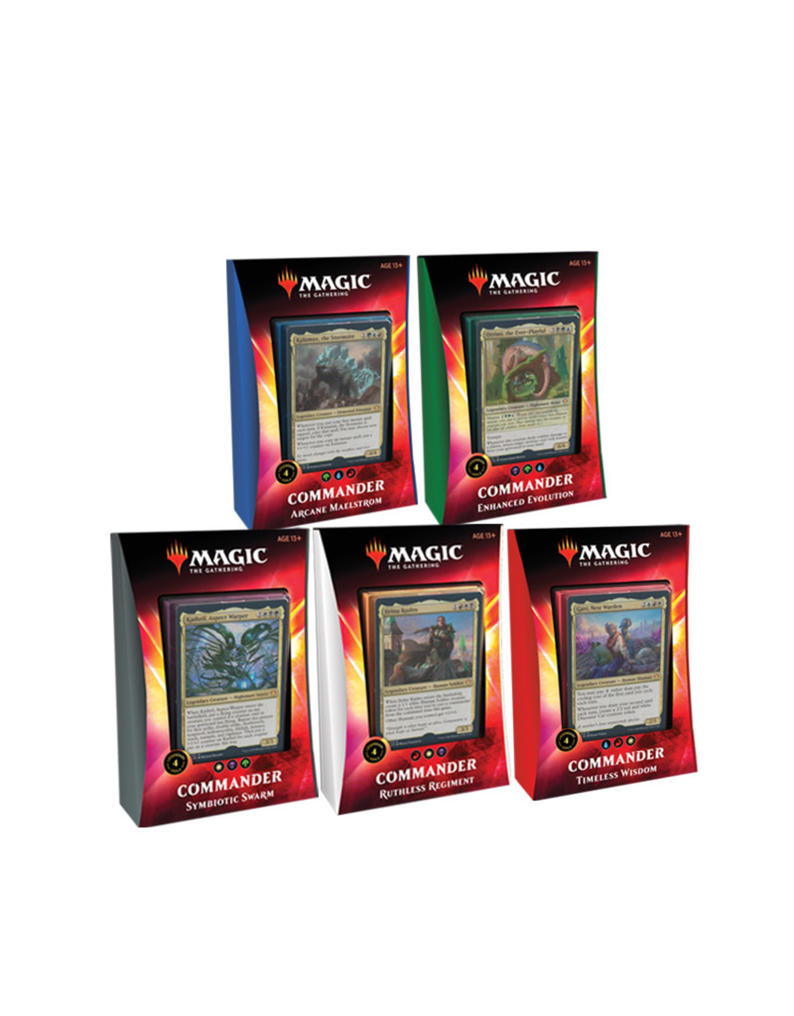 Wizards of the Coast MTG Ikoria Commander Deck Display (All 5 Decks)