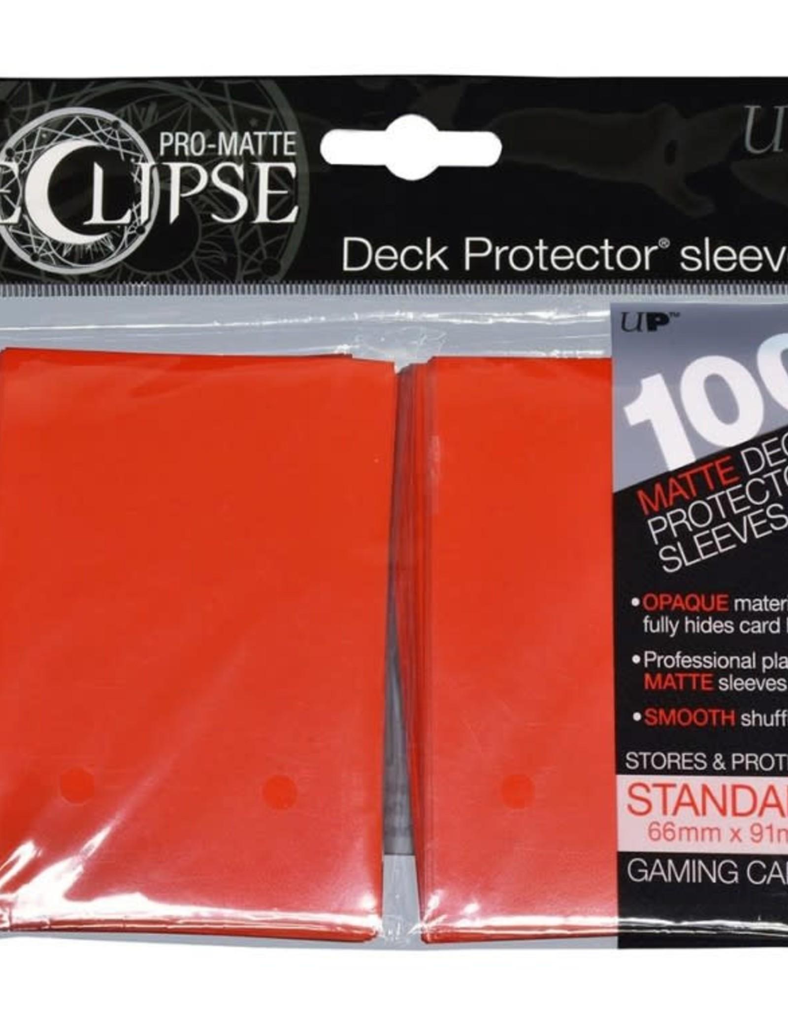 Deck Protectors: Pro-Matte Eclipse (100) Apple Red