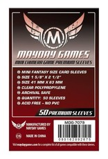 Mayday Games Sleeves: Premium Mini Chimera Sleeves 43mm x 65mm Dark Red (50)