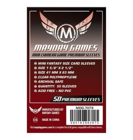 Mayday Games Sleeves: Premium Mini Chimera Sleeves 43mm x 65mm Dark Red (50)