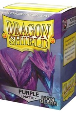 Arcane Tinmen Deck Protectors: Dragon Shield Non-Glare Matte (100) Purple