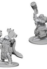 Wizkids D&D Unpainted Minis: Dwarf Cleric Male
