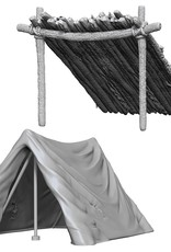 Wizkids Deep Cuts Unpainted Minis: Tent & Lean-To