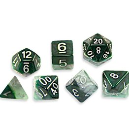 Gate Keeper Games Halfsies Dice: Adamantine (7 Polyhedral Dice Set)