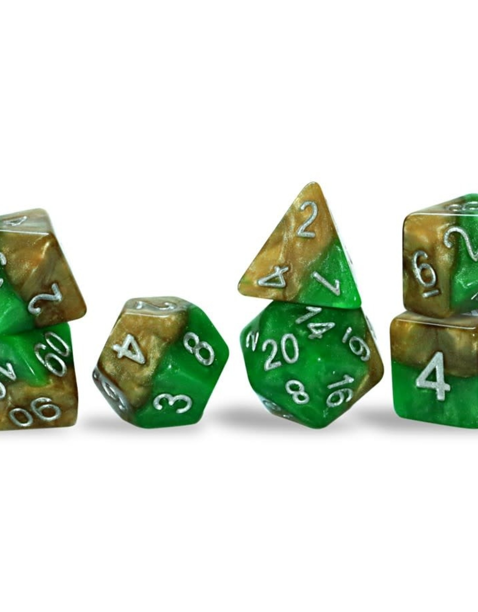 Gate Keeper Games Halfsies Dice: Robin Hood (7 Polyhedral Dice Set)