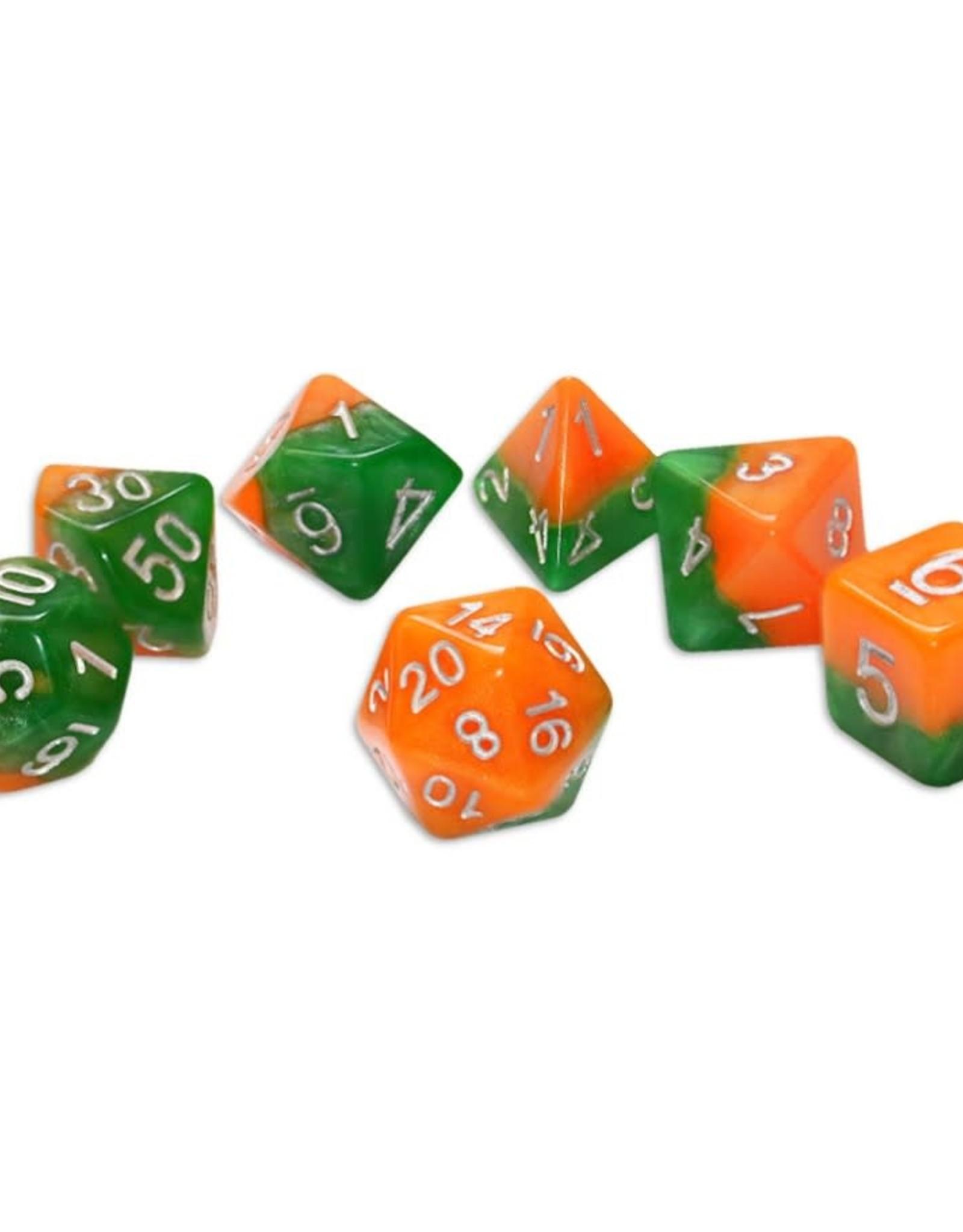 Gate Keeper Games Halfsies Dice: Great (7 Polyhedral Dice Set)