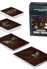 Games Workshop Warhammer 40K Datacards Chaos Knights (8th Edition)