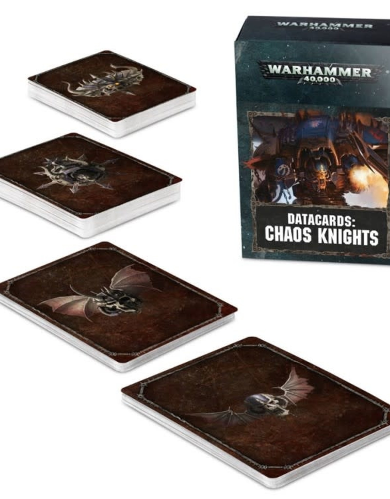 Games Workshop Warhammer 40K Datacards Chaos Knights (8th Edition)