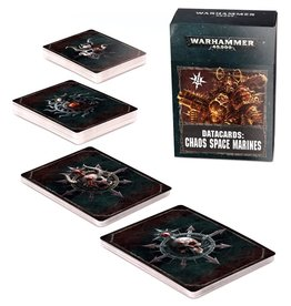 Games Workshop Warhammer 40K Datacards Chaos Space Marines (8th Edition)