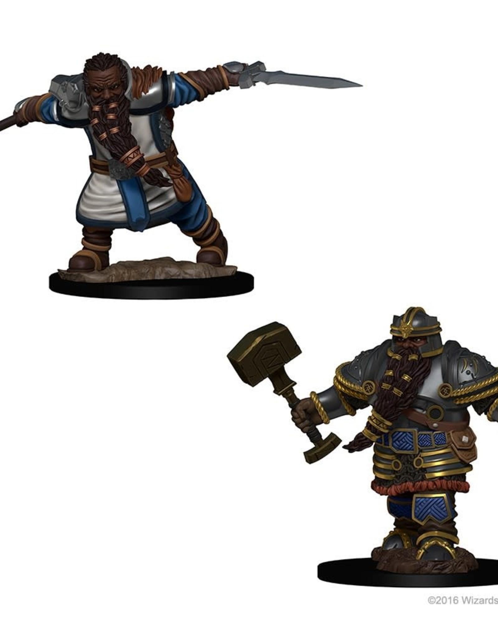 Wizkids D&D Nolzur's Unpainted Miniatures: Dwarf Male Fighter