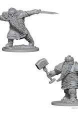 Wizkids D&D Unpainted Minis: Dwarf Fighter Male