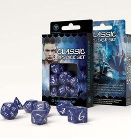 Q Workshop Classic RPG Dice Set Cobalt/White (7)