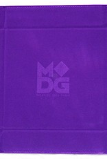 Metallic Dice Games Dice Tray: Velvet Folding with Leather Backing Purple