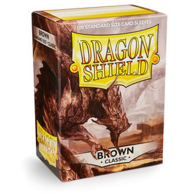 Arcane Tinmen Deck Protectors: Dragon Shield Classic (100) Brown