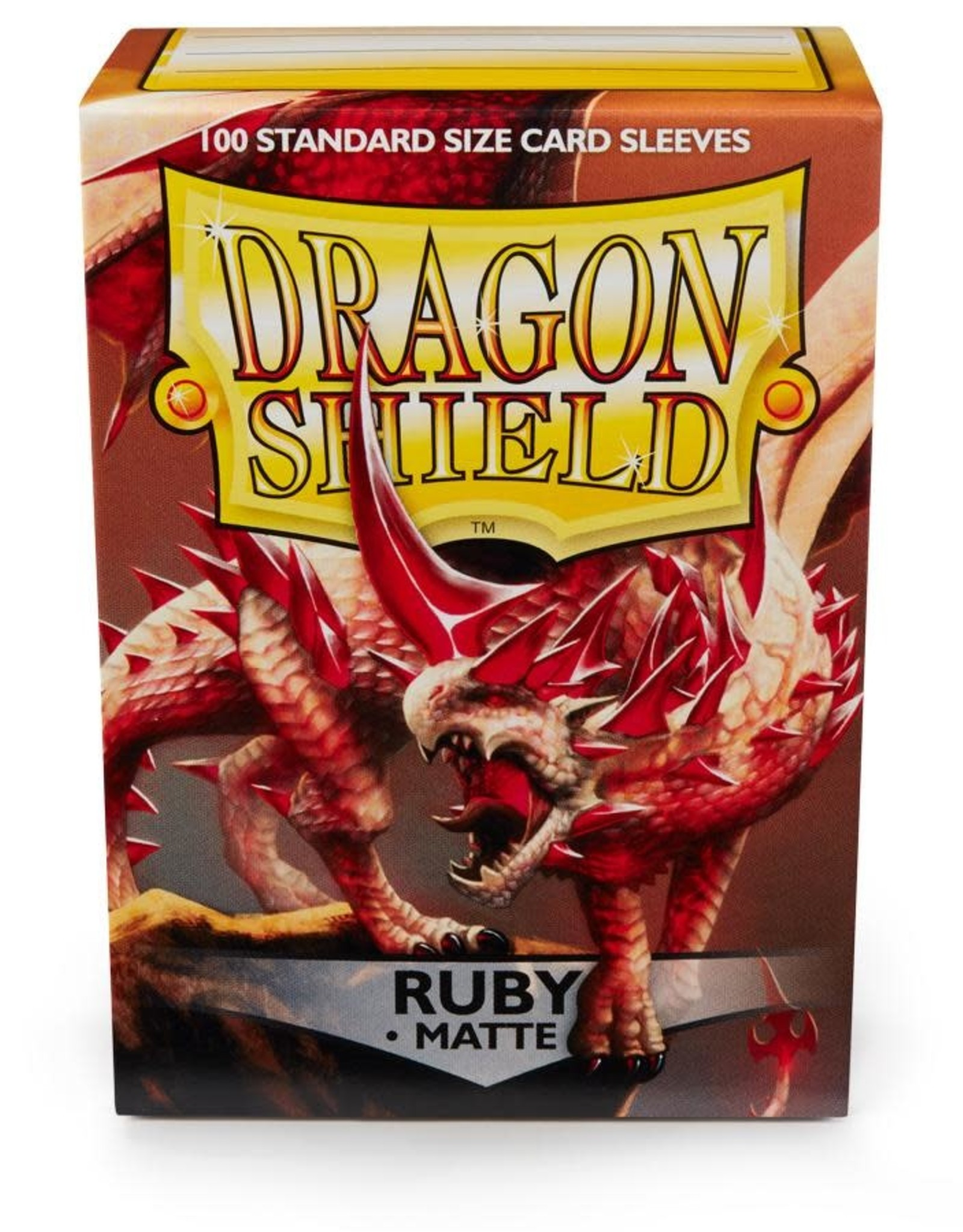 Arcane Tinmen Deck Protectors: Dragon Shield Matte (100) Ruby