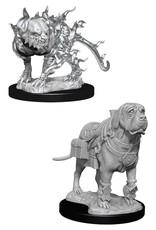 Wizkids D&D Unpainted Minis: Mastif & Shadow Mastif