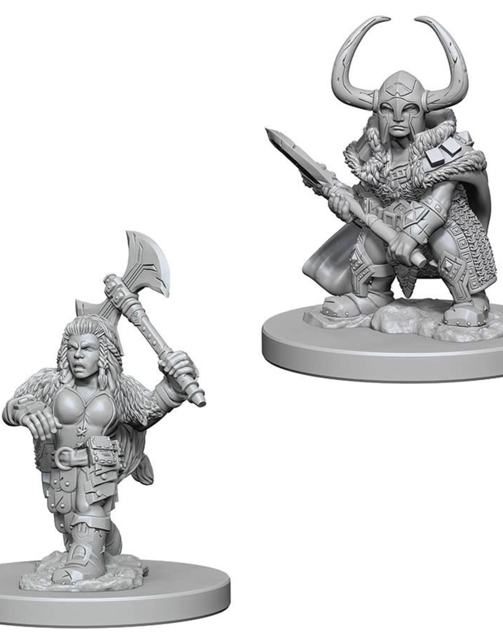 Wizkids D&D Unpainted Minis: Dwarf Barbarian Female