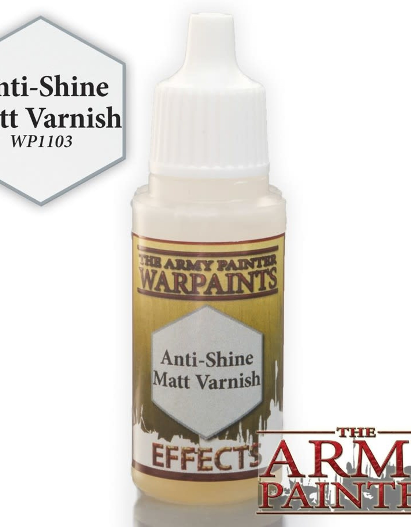 Warpaints: Anti-Shine Matt Varnish 18ml
