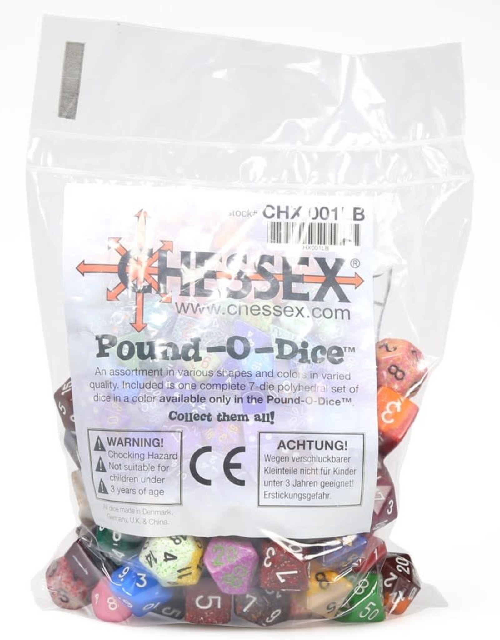 Chessex Pound of Dice: Various Opaque Dice (approx 100)
