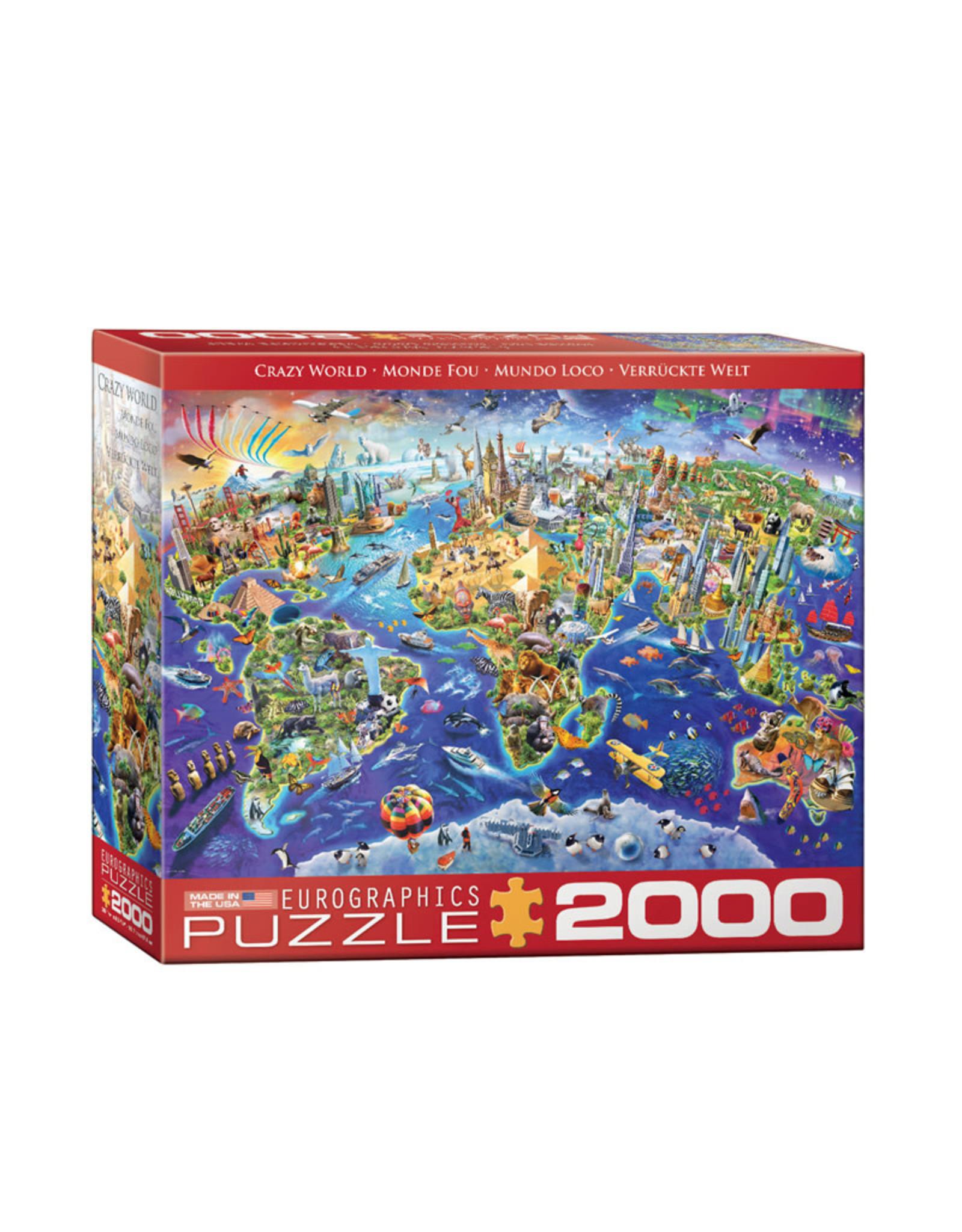 Eurographics Crazy World Puzzle 2000 PCS