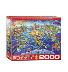 Eurographics Crazy World Puzzle 2000 PCS