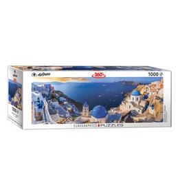 Eurographics Santorini Greece Puzzle 1000 PCS Panoramic