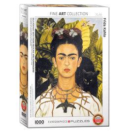 Eurographics Self-Portrait with Hummingbird Puzzle 1000 PCS (Kahlo)