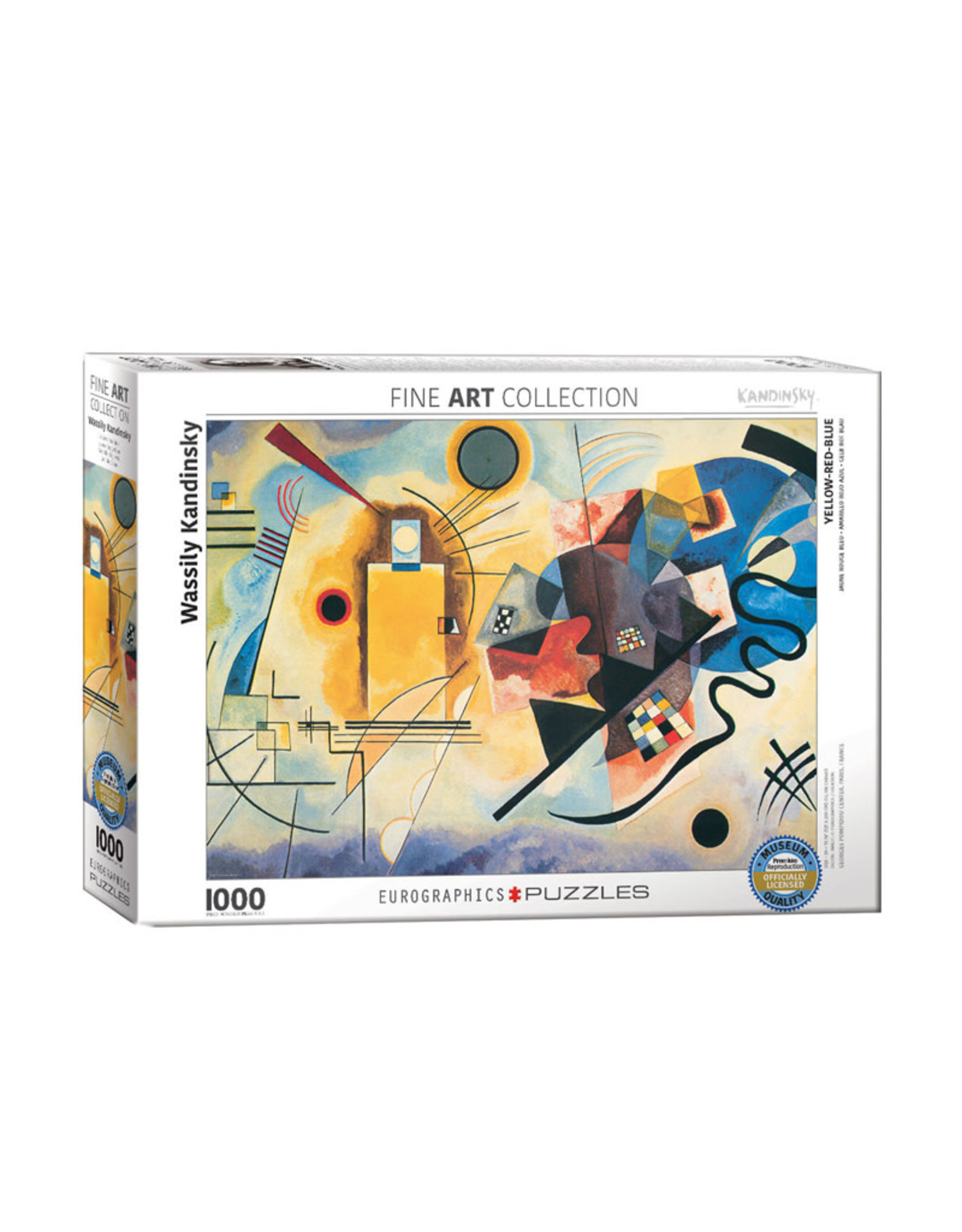 Eurographics Yellow Red Blue Puzzle 1000 PCS (Kandinsky)