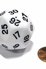 Koplow D30 Dice: Opaque Triantakohedron White/Black (1)