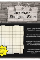 Role 4 Initiative Dungeon Tiles: Dry Erase Pack of Nine 10` Interlocking Tiles