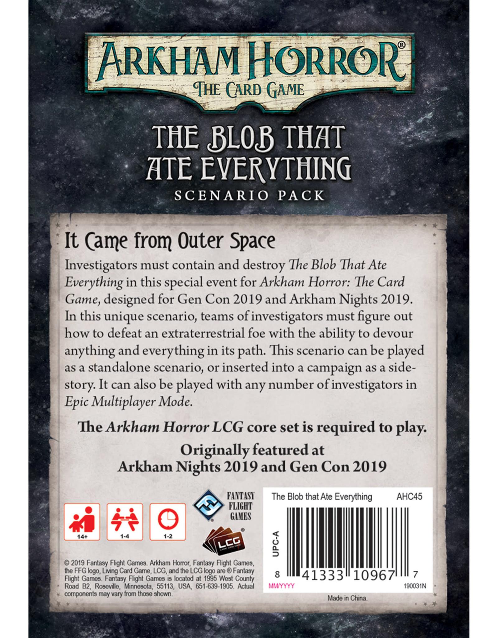 Arkham Horror LCG: The Blob That Ate Everything Scenario Pack