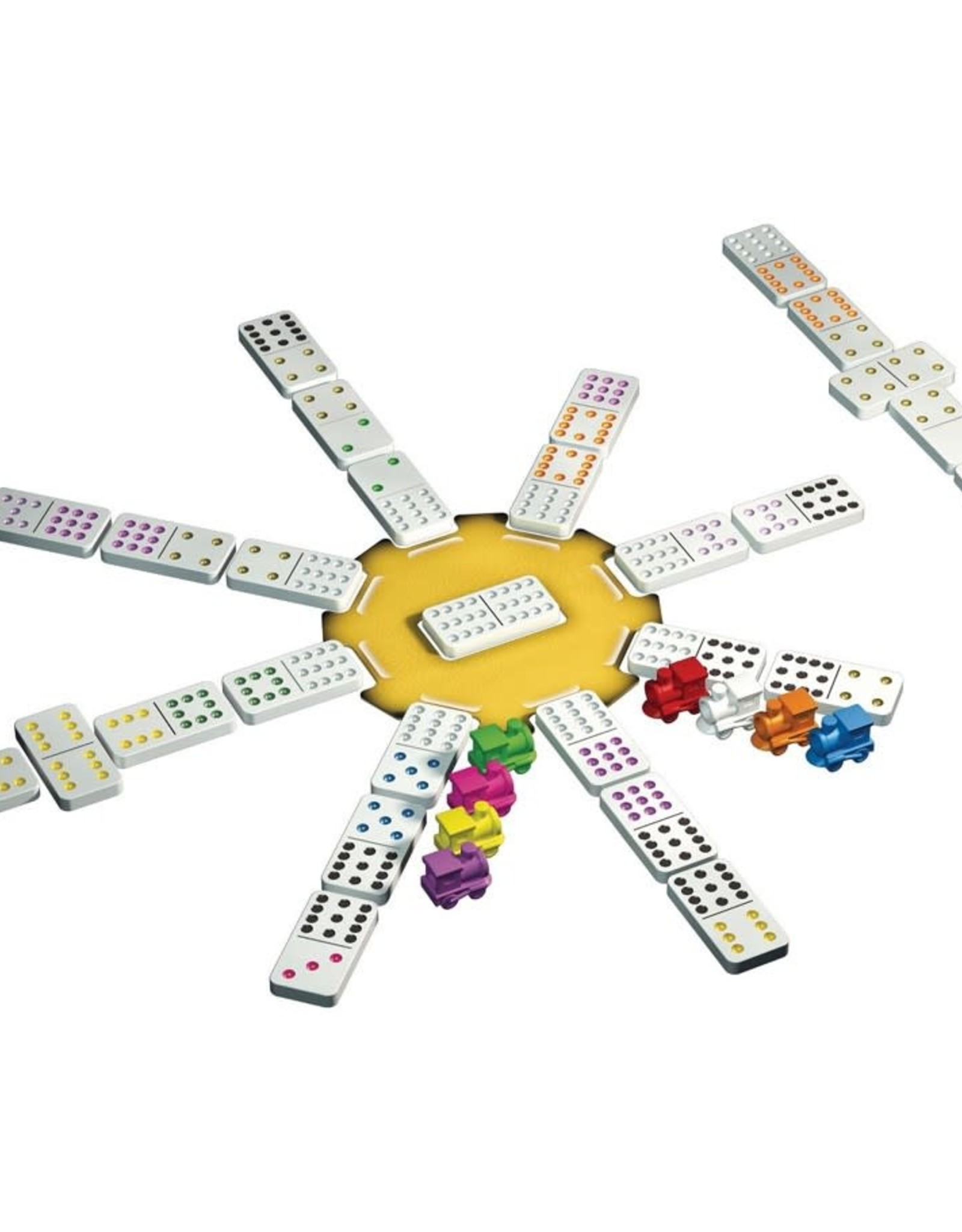 Tactic Games Mexican Train Dominoes in Tin