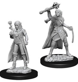 Wizkids D&D Nolzur's Unpainted Miniatures: Elf Cleric Female