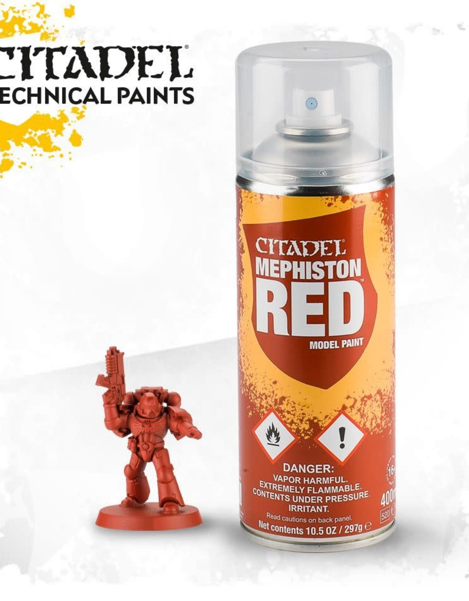 Games Workshop Spray Paint Primer: Mephiston Red