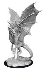 Wizkids D&D Unpainted Minis: Young Silver Dragon