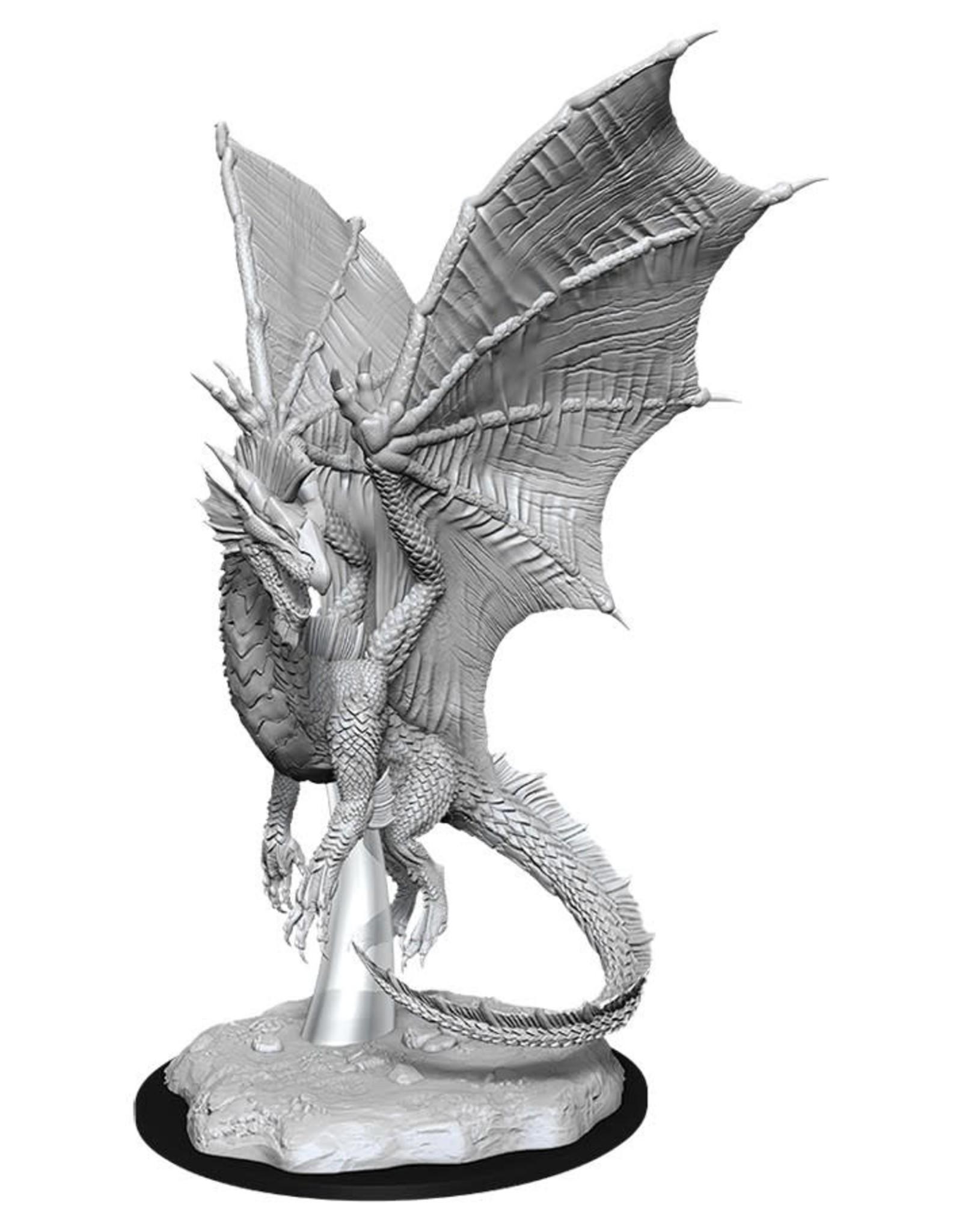 Wizkids D&D Nolzur's Unpainted Miniatures: Young Silver Dragon