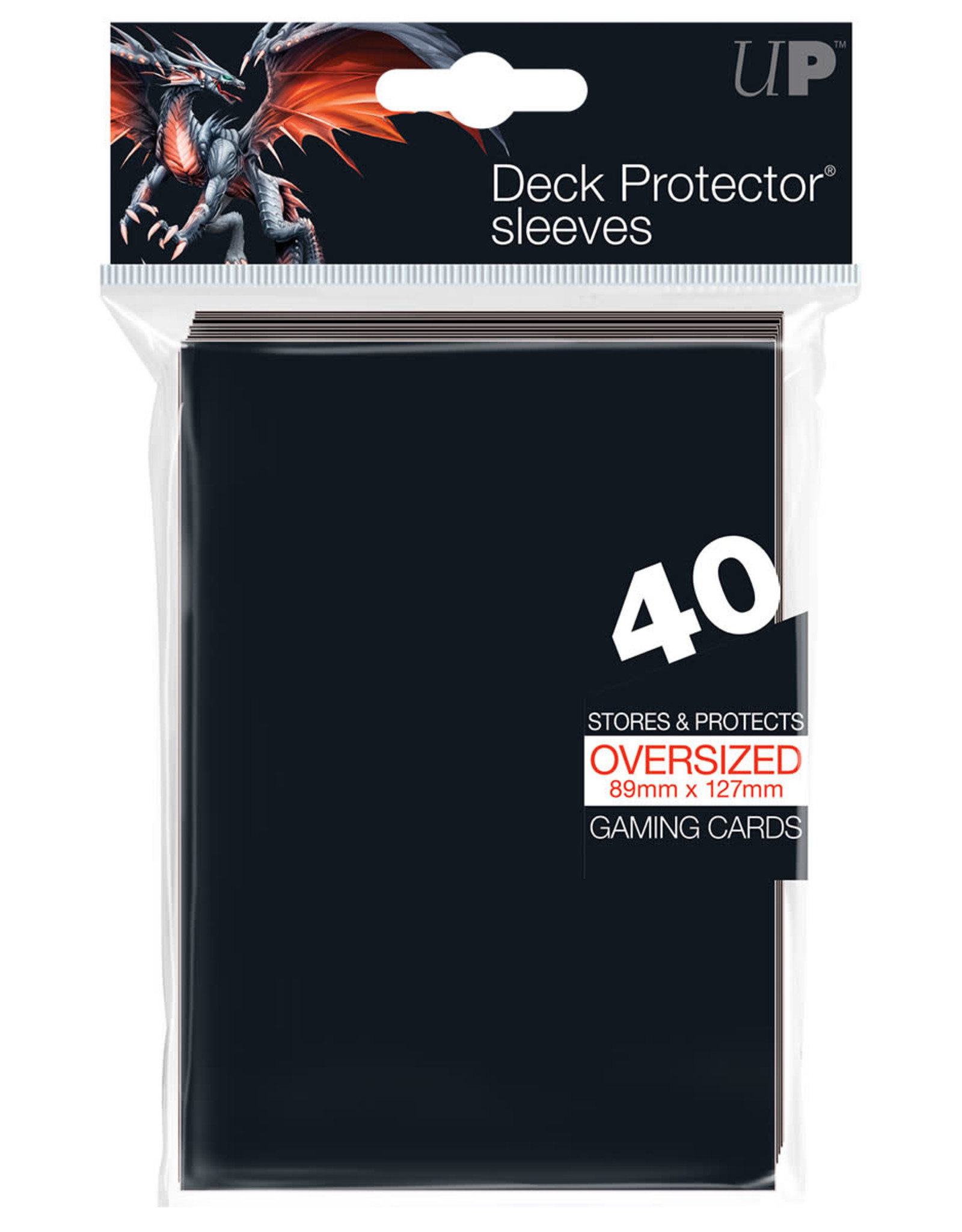 Oversided Deck Protectors for Commander: Black